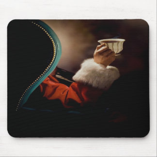 Santa Claus taking a break on Christmas Eve Mouse Mats
