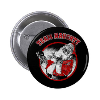 Santa Claus - Team Naughty 6 Cm Round Badge