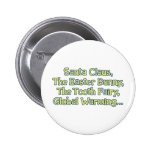 Santa Claus, The Easter Bunny, The Tooth Fairy, Gl Pinback Button