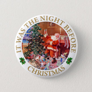 Santa Claus - The Night Before Christmas 6 Cm Round Badge