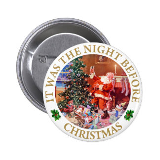 Santa Claus - The Night Before Christmas Buttons