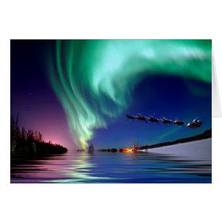 Santa Claus & the Northern Lights Greeting Card