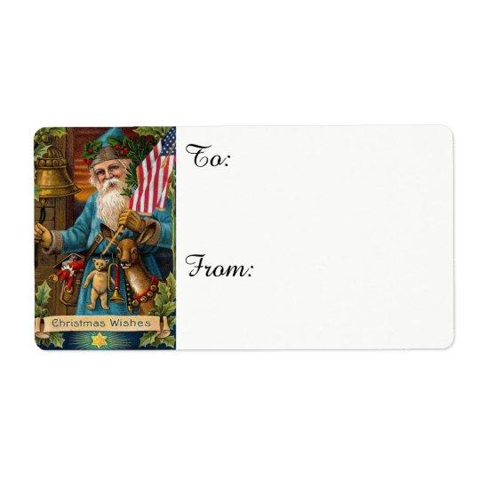 Santa Claus Toys & American Flag