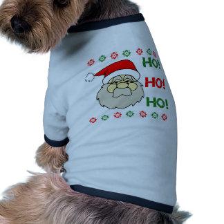 Santa Claus Ugly Christmas Sweater Ho Ho Ho Dog Tshirt