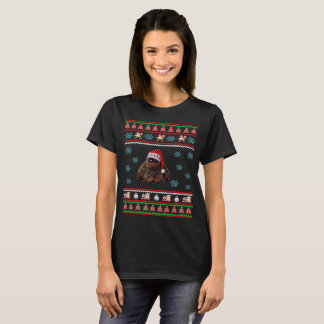 Santa Claus Ugly Sweater Monkey T-Shirt