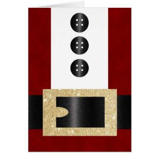 Santa Claus Uniform with Glitter Belt