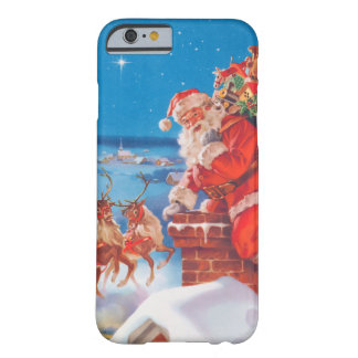 Santa Claus Up On The Rooftop With His Reindeer Barely There iPhone 6 Case