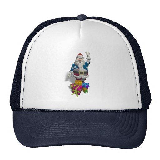 Santa Claus US Flag Jacket Trucker Hat