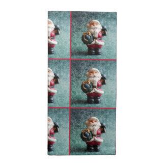 Santa Claus, Vintage Christmas Figure Napkin