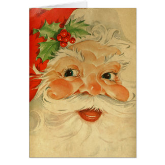 Santa Claus Vintage Inspired St. Nicholas Card