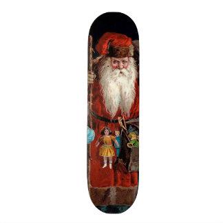 Santa Claus Visiting a Boy Skate Boards