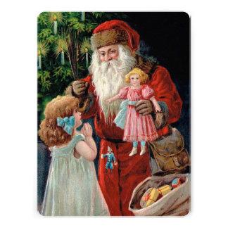 Santa Claus Visiting a Girl Announcements