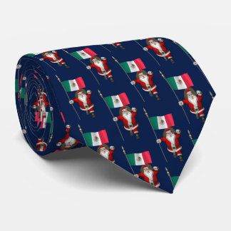 Santa Claus Visiting Of Mexico Tie