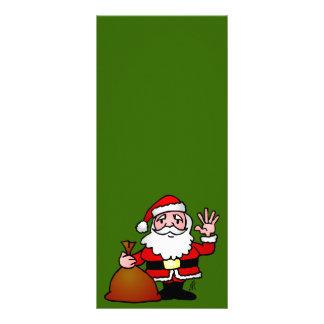 Santa Claus waving Customized Rack Card