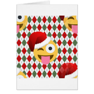 santa claus wink emoji card