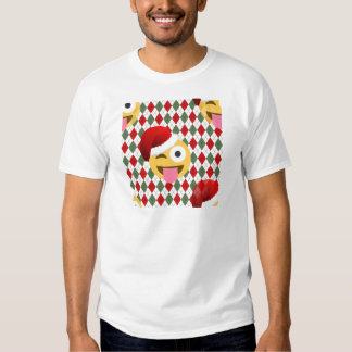 santa claus wink emoji t shirts