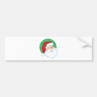Santa Claus Winking Car Bumper Sticker