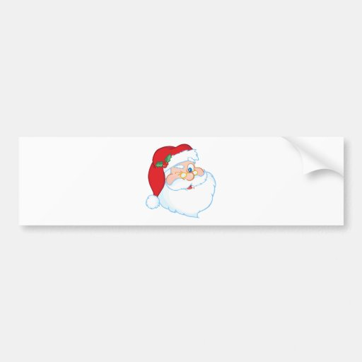 Santa Claus Winking Bumper Sticker