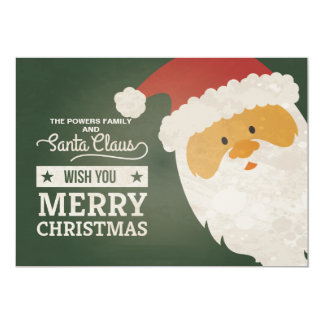 Santa Claus Wishes Holiday Card 13 Cm X 18 Cm Invitation Card