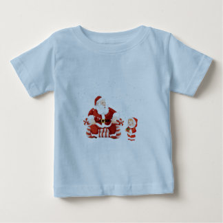 Santa Claus with a child on his lap Baby T-Shirt