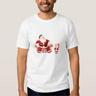 Santa Claus with a child on his lap T Shirts