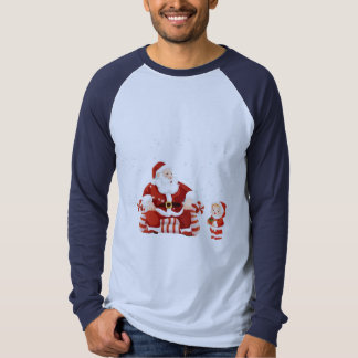 Santa Claus with a child on his lap Tee Shirt