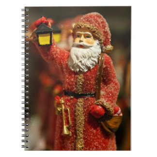 Santa Claus with a lantern Christmas decoration Note Book