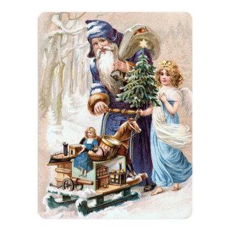 Santa Claus with Angel 17 Cm X 22 Cm Invitation Card