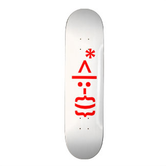 Santa Claus with Beard Christmas Smiley Emoticon Skate Decks