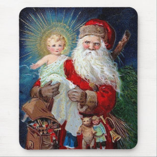 Santa Claus with Christ Child Mouse Pad