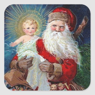 Santa Claus with Christ Child Square Sticker