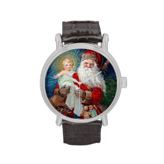 Santa Claus with Christ Child Wrist Watches