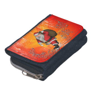 Santa Claus with decorative floral elements Wallet