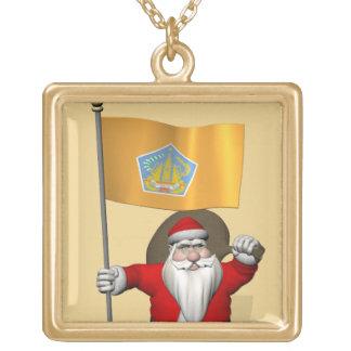 Santa Claus With Ensign Of Bali Pendants