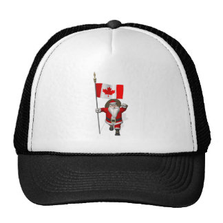 Santa Claus With Ensign Of Canada Cap