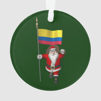 Santa Claus With Ensign Of Colombia