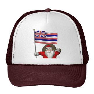 Santa Claus With Ensign Of Hawaii Cap