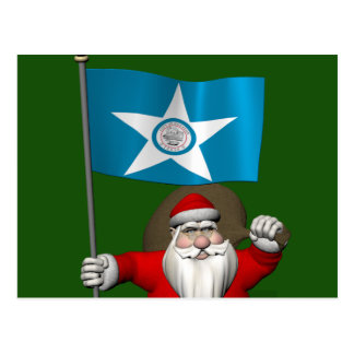 Santa Claus With Ensign Of  Houston TX Post Cards
