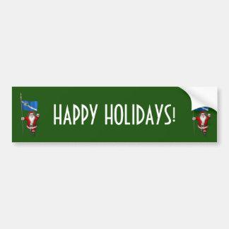 Santa Claus With Ensign Of Las Vegas Car Bumper Sticker