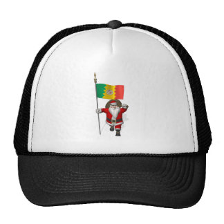 Santa Claus With Ensign Of Los Angeles Trucker Hats