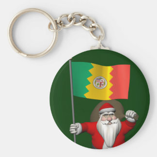 Santa Claus With Ensign Of Los Angeles Keychains