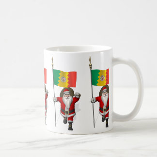 Santa Claus With Ensign Of Los Angeles Coffee Mug
