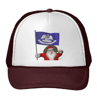 Santa Claus With Ensign Of  Louisiana Cap