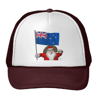 Santa Claus With Ensign Of New Zealand Cap