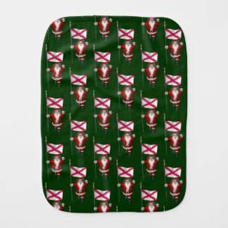 Santa Claus With Ensign Of Northern Ireland Burp Cloth