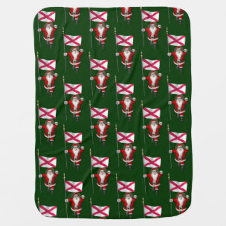 Santa Claus With Ensign Of Northern Ireland Baby Blanket