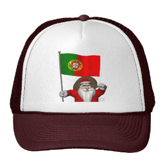 Santa Claus With Ensign Of Portugal Cap