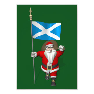 Santa Claus With Ensign Of Scotland Card