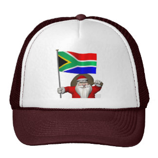 Santa Claus With Ensign Of South Africa Trucker Hat