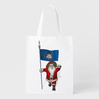 Santa Claus With Ensign Of Utah